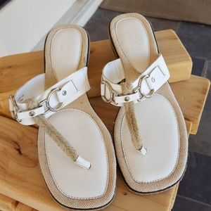 Cole Haan white sandal